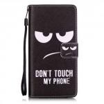 Koženkové pouzdro Huawei P9 Lite - Don´t touch my phone 01