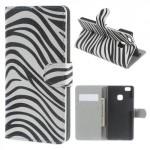 Koženkové pouzdro Huawei P9 Lite - Zebra