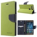 Pouzdro Fancy Diary Huawei P9 - zelené-tmavě modré