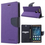 Pouzdro Fancy Diary Huawei P9 - fialové-tmavě modré
