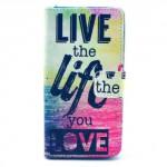 Koženkové pouzdro - Xperia Z3 Compact - Live the life you love