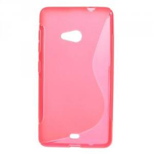 Pouzdro S-curve Lumia 535 - Růžové