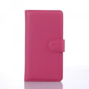 Koženkové knížkové pouzdro - LG Spirit - růžové