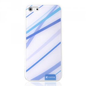 Kryt / Obal iPhone 5/5S - Modré pruhy