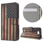 Koženkové pouzdro Huawei Y3 II - Vlajka USA