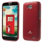 Obal Jelly Case LG L90 Dual - Červený lesklý třpytivý