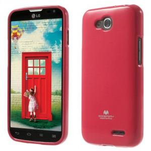 Obal Jelly Case LG L90 Dual - Tmavě růžový lesklý třpytivý