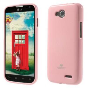 Obal Jelly Case LG L90 Dual - Světle růžový lesklý třpytivý