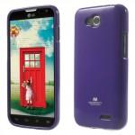 Obal Jelly Case LG L90 Dual - Fialový lesklý třpytivý