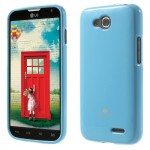Obal Jelly Case LG L90 Dual - Světle modrý lesklý třpytivý