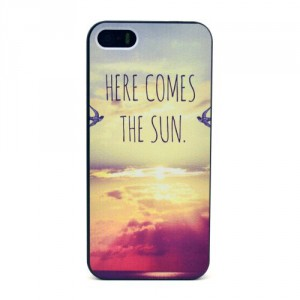 Kryt / Obal iPhone 5/5S - Here comes the sun