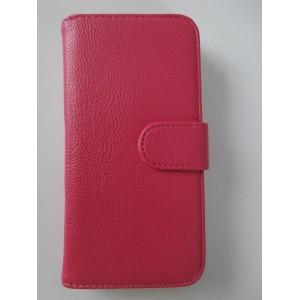 Koženkové pouzdro - Galaxy S5 i9600 - Růžové