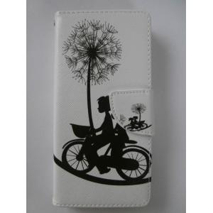 Sleva-Koženkové pouzdro Wallet - Pampeliška- Sony M4 Aqua.