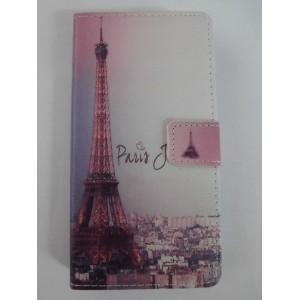 Sleva-Koženkové pouzdro Wallet - Xperia M2 - Paříž