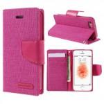 Pouzdro Canvas Diary - iPhone 5/5S- Růžové-červené