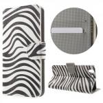 Koženkové knížkové pouzdro Lenovo Vibe K5 - Zebra