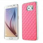 Kryt / Obal Galaxy S6 - Světle růžový s kamínky