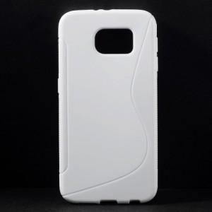 Pouzdro / Obal S-curve - Bílé - Galaxy S6