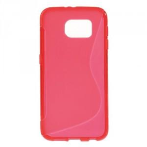 Pouzdro / Obal S-curve - Červené - Galaxy S6
