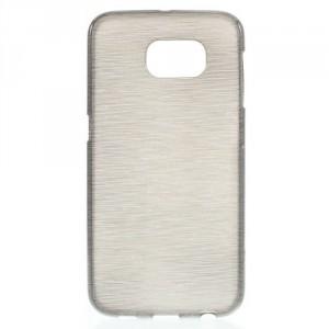 Pouzdro / Obal - Broušený vzor, šedý - Galaxy S6