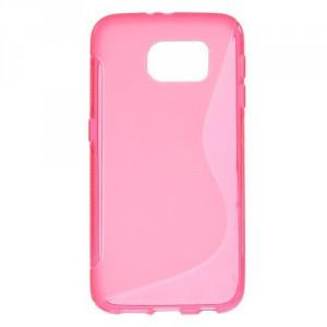 Pouzdro / Obal S-curve - Růžové - Galaxy S6