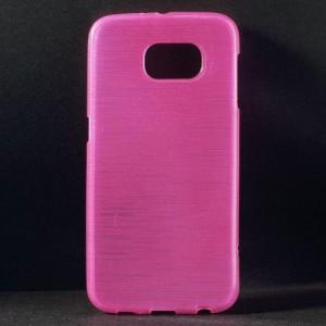 Pouzdro / Obal - Broušený vzor, růžový - Galaxy S6