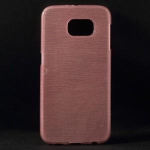 Pouzdro / Obal - Broušený vzor, starorůžový - Galaxy S6