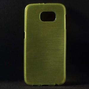 Pouzdro / Obal - Broušený vzor, žlutozelený - Galaxy S6