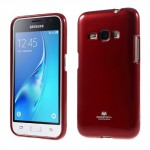 Obal Jelly Case Galaxy J1 (2016) - Červený lesklý třpytivý