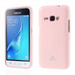 Obal Jelly Case Galaxy J1 (2016) - Růžový lesklý třpytivý