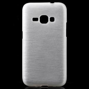 Pouzdro / Obal - Broušený vzor, bílý- Galaxy J1 (2016)