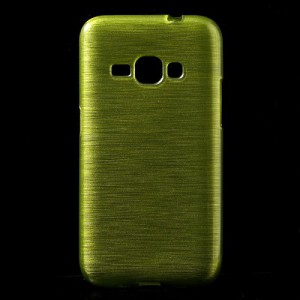 Pouzdro / Obal - Broušený vzor, žlutozelené- Galaxy J1 (2016)
