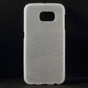 Pouzdro / Obal - Broušený vzor, bílý - Galaxy S6
