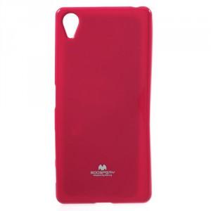 Obal Jelly Case Xperia X - tmavě růžový třpytivý