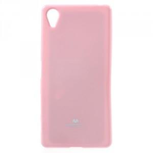 Obal Jelly Case Xperia X - světle růžový třpytivý