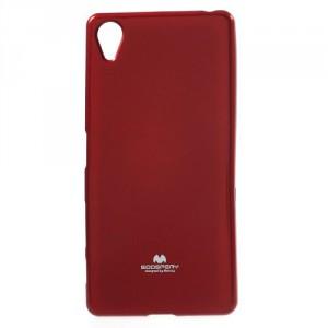 Obal Jelly Case Xperia XA - červený třpytivý