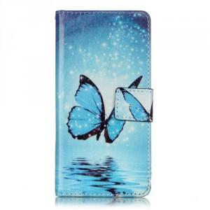 Koženkové pouzdro Xperia XA - Motýl