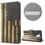 Koženkové pouzdro Honor 7 Lite - Vlajka USA