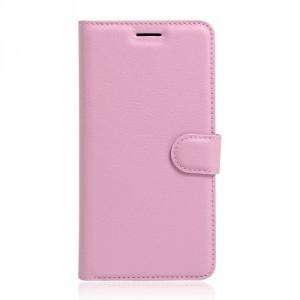 Koženkové pouzdro Alcatel Pop 4 -světle růžové