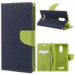 Pouzdro Fancy Diary Xiaomi Redmi Note 3 - tmavě modré-zelené