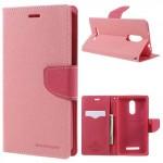 Pouzdro Fancy Diary Xiaomi Redmi Note 3 - růžové-červené