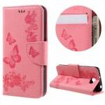 Koženkové pouzdro Huawei Y5 II - Světle růžové květy