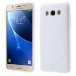 Zadní kryt / Obal S-curve Samsung Galaxy J7 (2016) - bílý