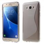 Zadní kryt / Obal S-curve Samsung Galaxy J7 (2016) - šedý