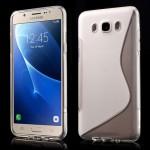 Zadní kryt / Obal S-curve Samsung Galaxy J7 (2016) - průhledný