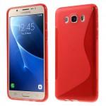 Zadní kryt / Obal S-curve Samsung Galaxy J7 (2016) - červený