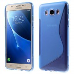 Zadní kryt / Obal S-curve Samsung Galaxy J7 (2016) - modrý