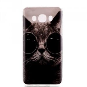 Zadní kryt / Obal Samsung Galaxy J7 (2016) - Kočka s brýlemi