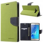 Pouzdro Fancy Diary - Samsung Galaxy J7 (2016) - žlutozelené