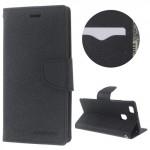 Pouzdro Fancy Diary Huawei P9 Lite - Černé